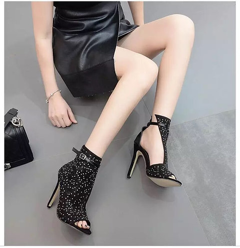 Cut Out Crystal Boots