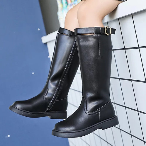 Girls Leather High Boots