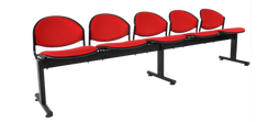 DELFI GANG- upholstered seat and back - 5 seater