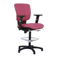 THETA STAFF WITH ADJUSTABLE ARMREST STOOL WITH FOOTRING