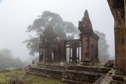 Preah Vihear rises from the mist.