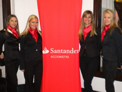 SANTANDER  - edecanes modelos