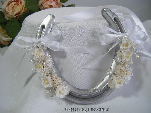 Real Horseshoe Lucky Wedding Gift -Blossom