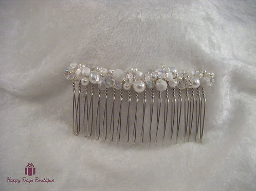 Hair Comb - Pearl White