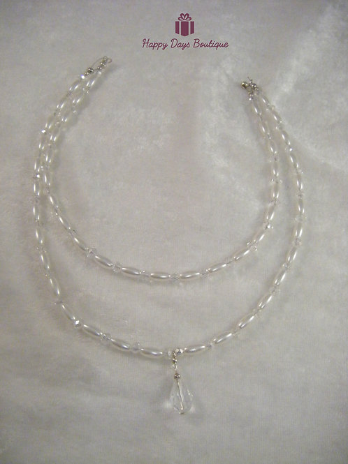 Pearl & Crystal Hair Drape or Jewellery