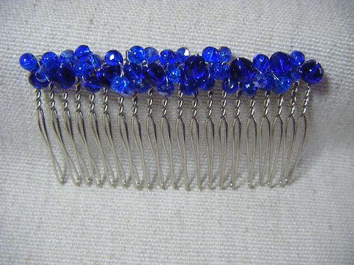 Hair Comb - Sapphire Blue