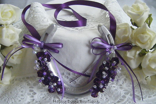 Real Horseshoe Lucky Wedding Gift - Purple