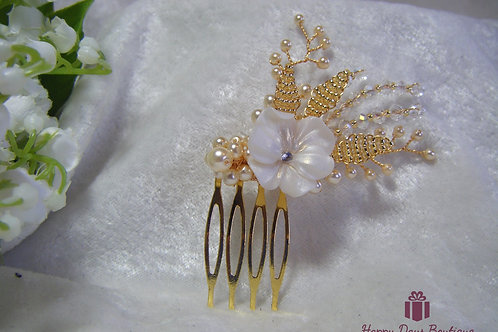 Hair Comb - Pansy
