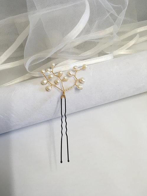 Freshwater Pearl Hair Pins set of 3