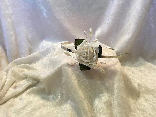 Floral Headband - ivory rose