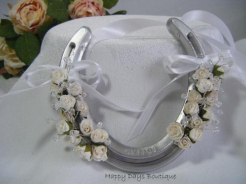 Real Horseshoe Lucky Wedding Gift - Rose