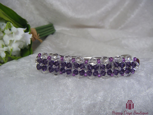 Hair Slide Barette Purple