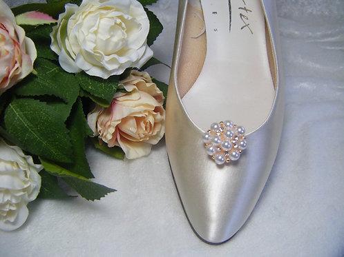 Pearl & Diamante Shoe Clips