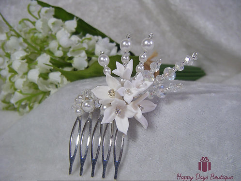 Hair Comb - small lilly