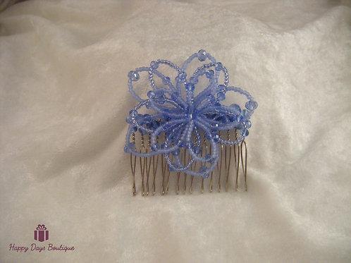 Hair Comb - Daisy Pale Blue