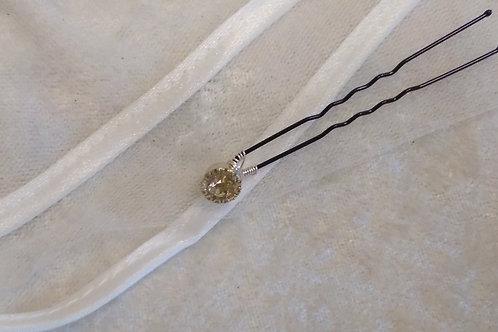 Sparkling Diamante Hair Pins - set of 5