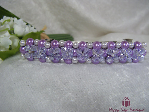 Hair Slide Barette Lilac