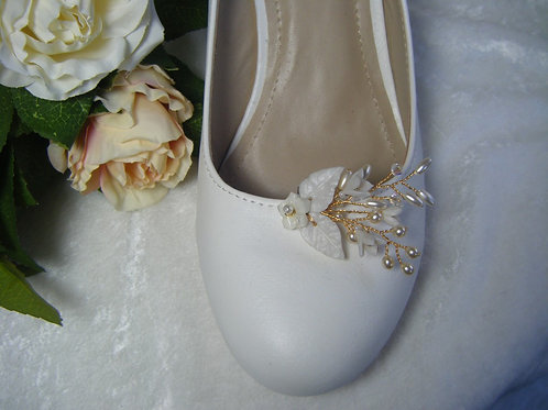Floral Spray Shoe Clips
