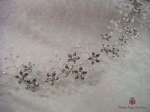 Hair Vine Silver Floral