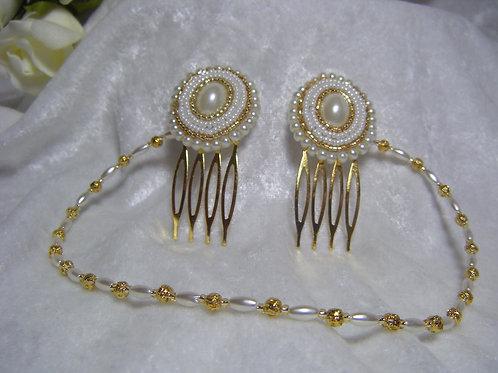Hair Drape Hair Jewellery Vintage Gold