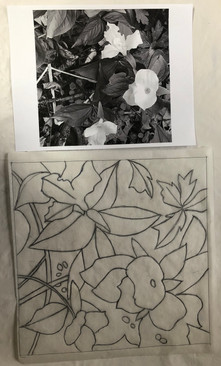 Drawing a design from the black and white photo inspiration