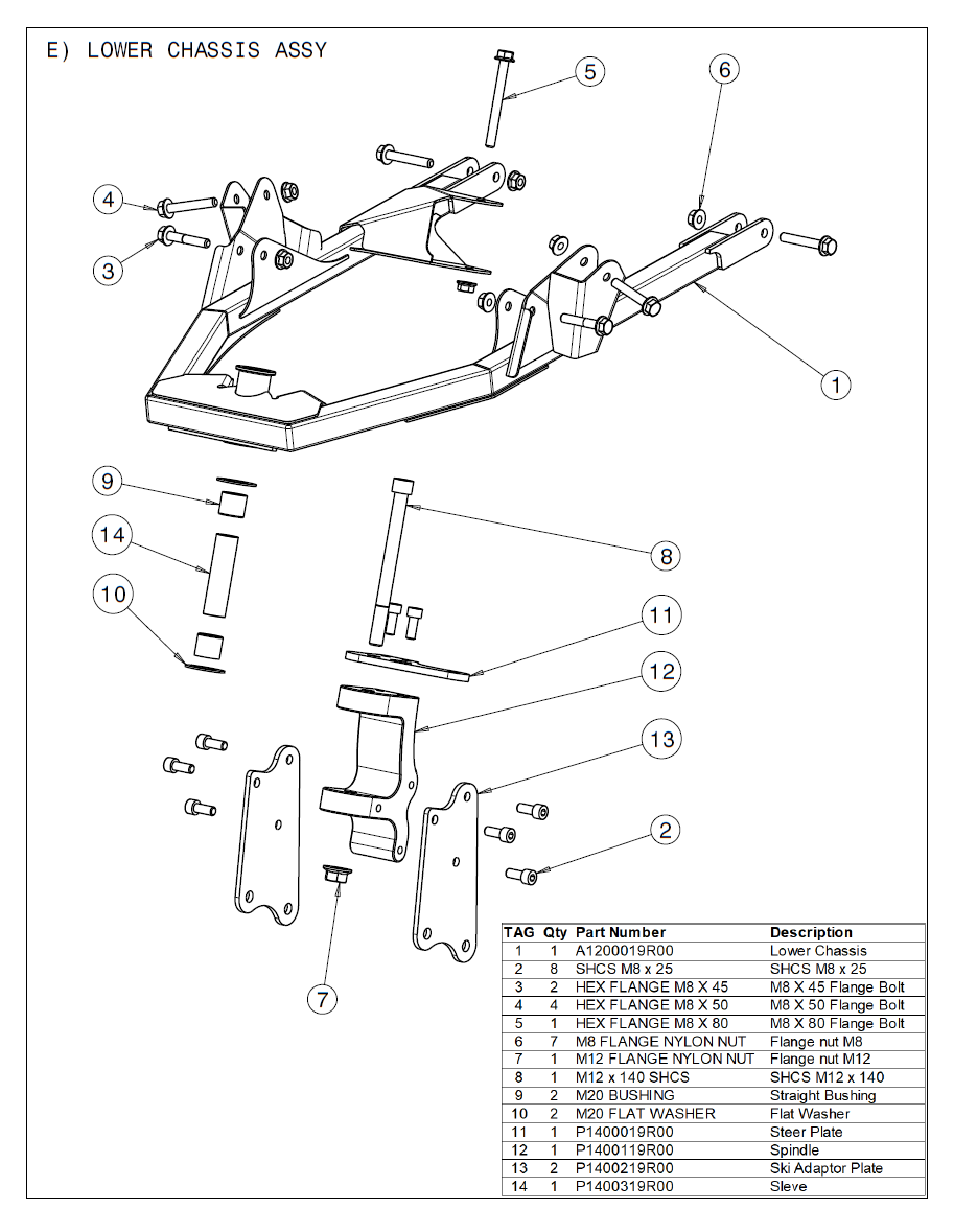 01E Lower Chassis