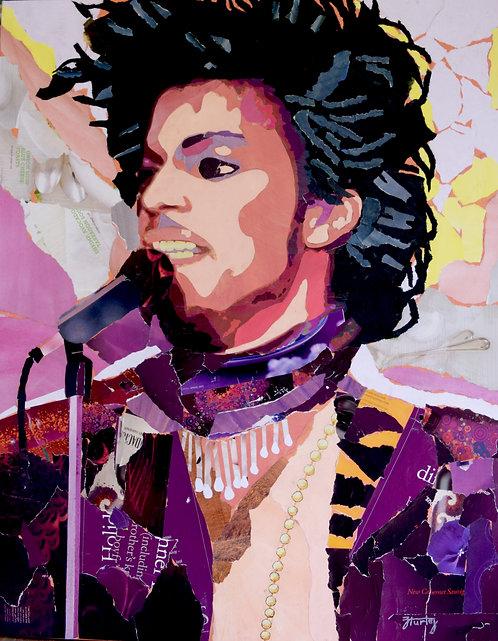 Purple Rain paper collage