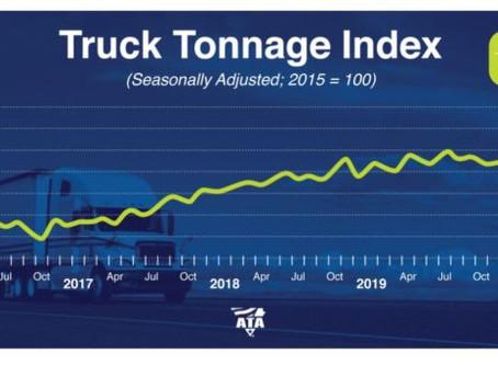 Forte hausse de l'indice de tonnage des camions ATA
