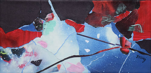 Ice Butterflies paper collage
