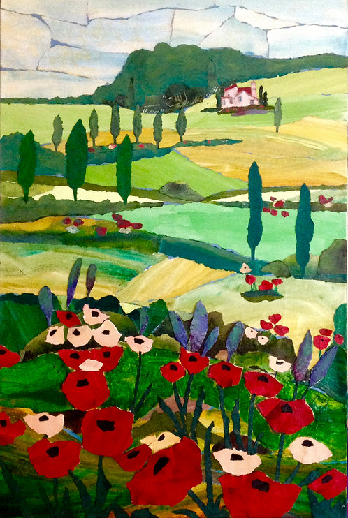 I Left my Heart in Tuscany paper collage