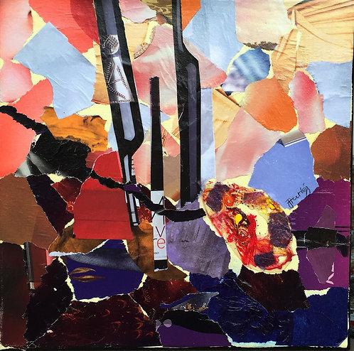 Alive paper collage