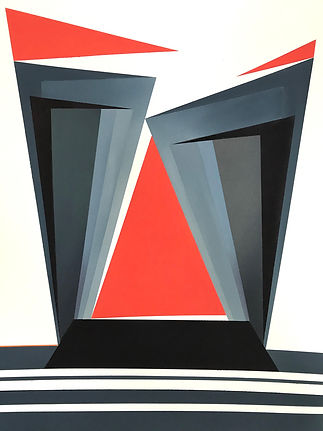 2nd-RED TRIANGLE_watercolour on paper_22