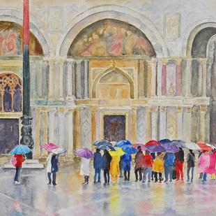 "Barbara Clarke ""Rainy Day Tourists Venice"""