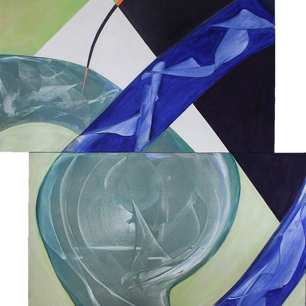 "Donna Saull - ""Facets of Haliburton"", diptych"