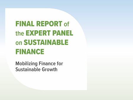 Canada's Expert Panel on Sustainable Finance Report