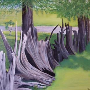 "Helen Duplassie ""The Last Stump Fence"""