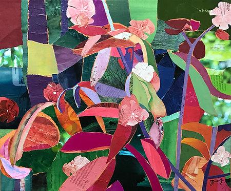 Spring in my Garden, paper collage