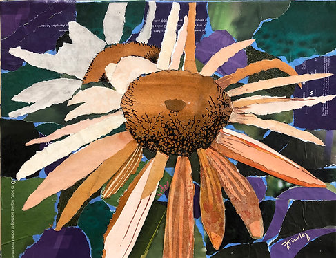 Dreaming of Spring paper collage