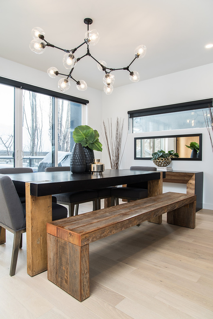 Dining Room Table & Bench Seating