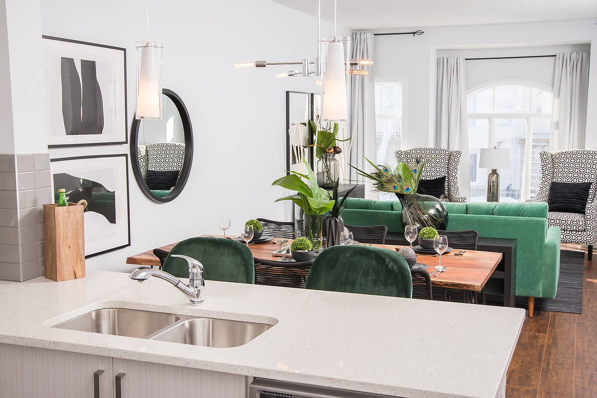 Kitchen Into Dining & Living Rooms