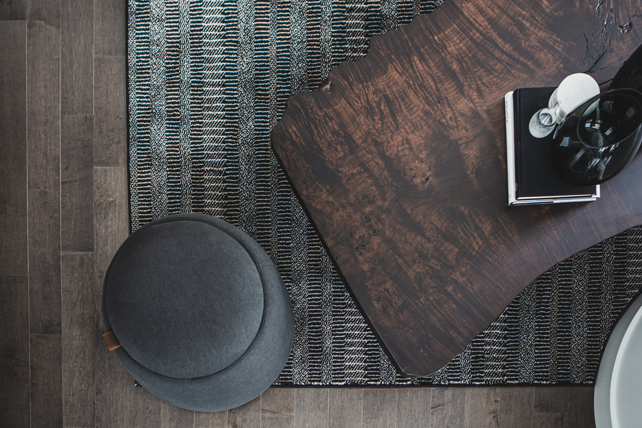 Living Room Coffee Table & Poof