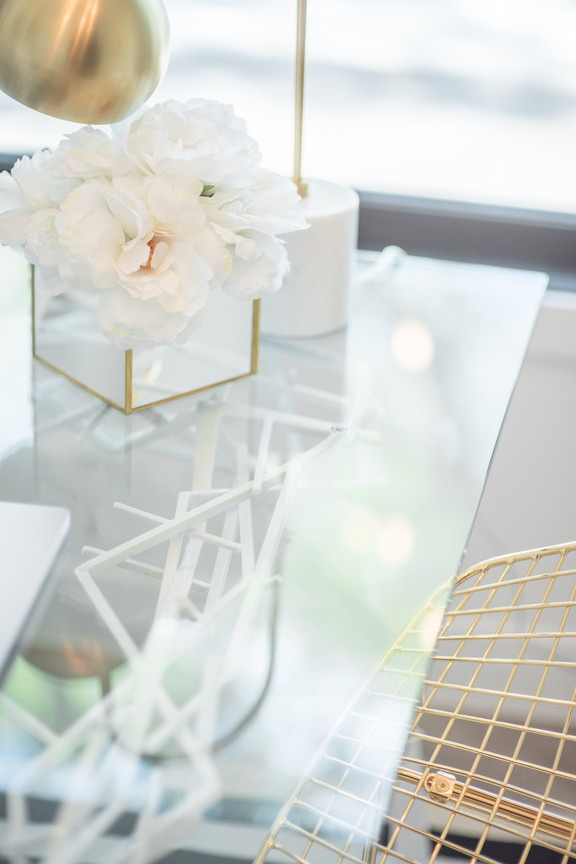 Her Glass Office Desk
