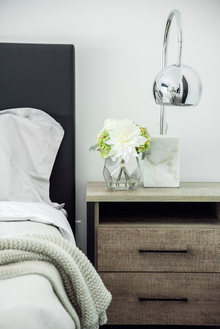 Guest Bedroom Night Table & Lamp