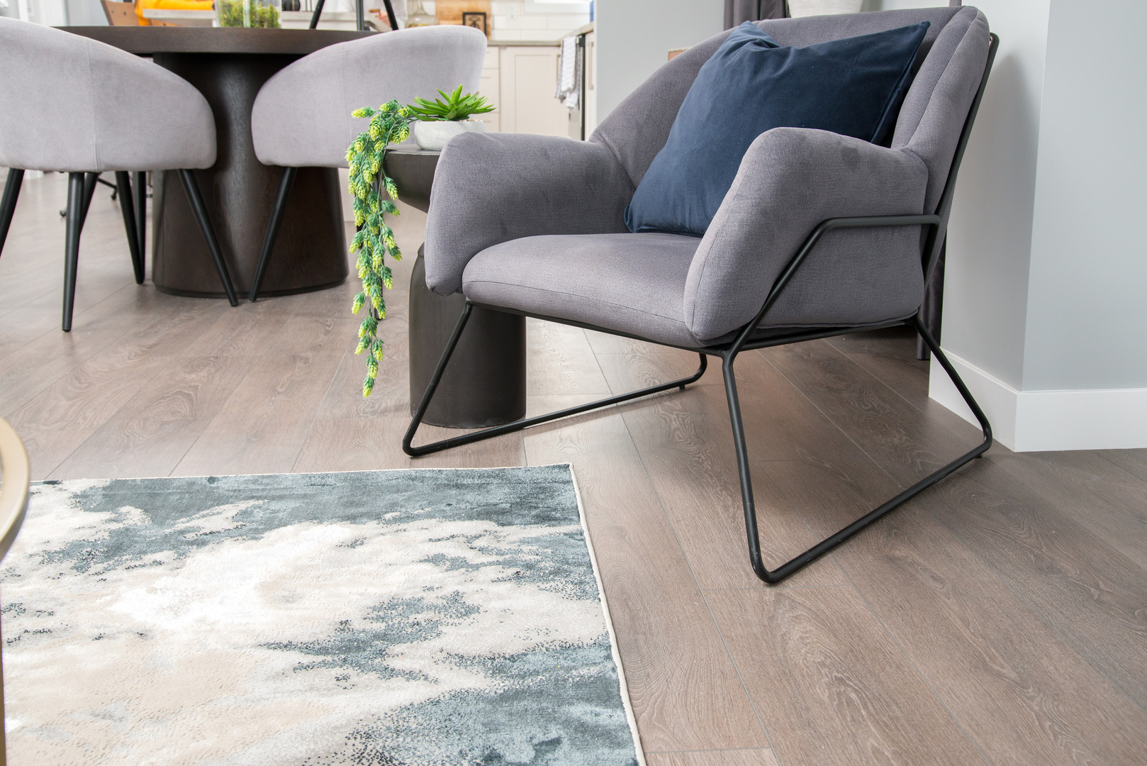 Arm Chair & Living Room Area Rug