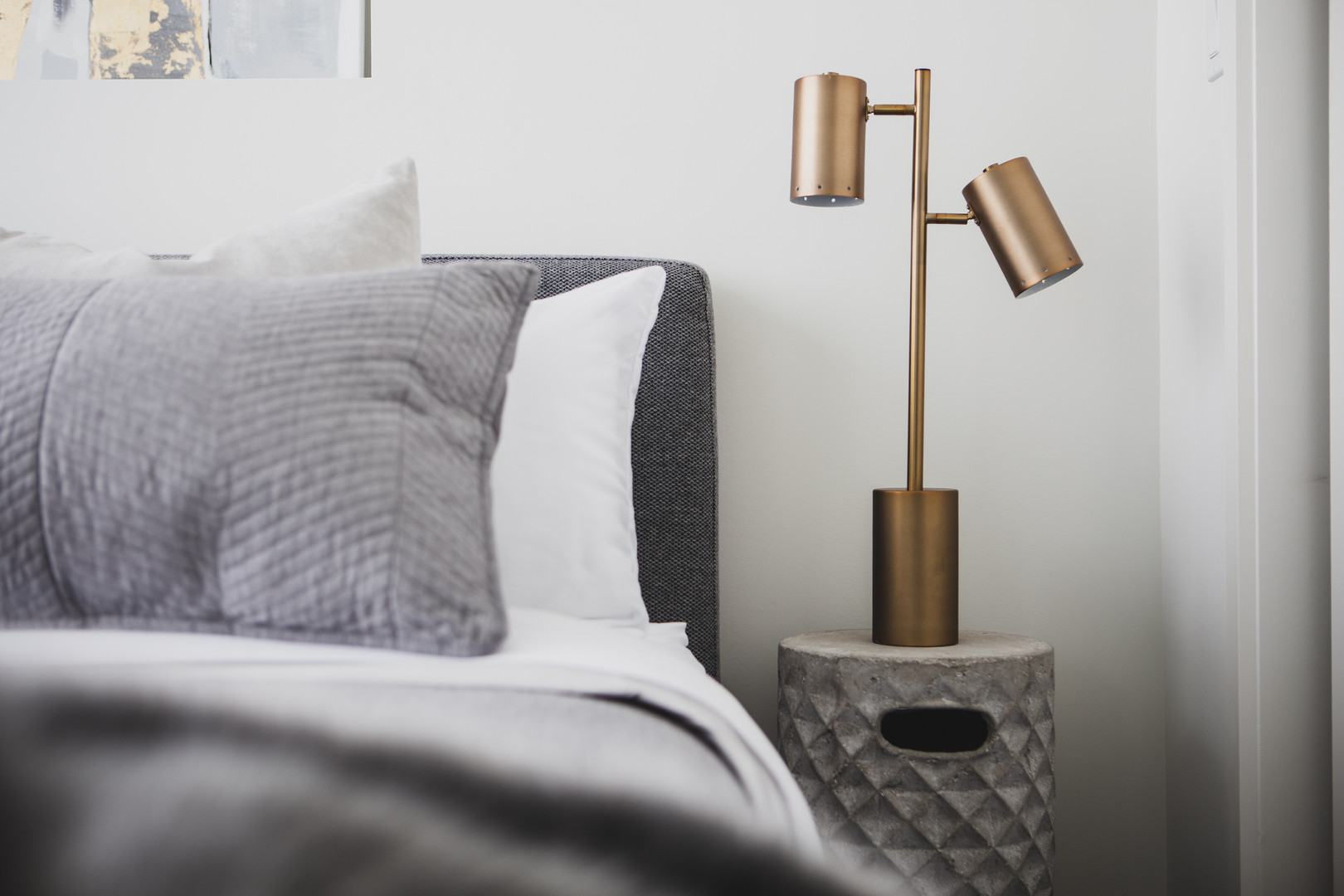 Bedroom 2 Bedside Table & Lamp