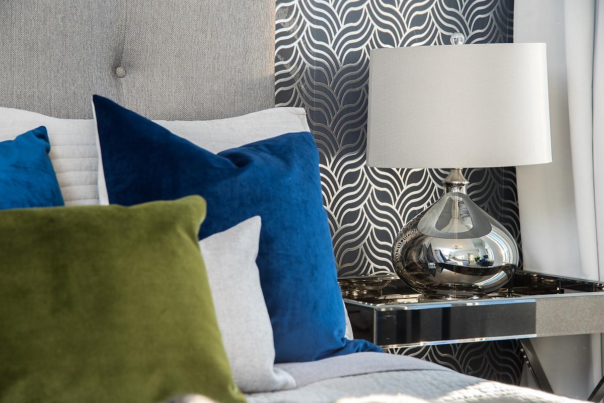 Master Bedroom Night Table & Lamp