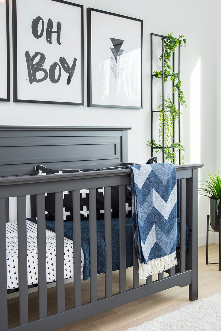 Nursery Crib & Artwork