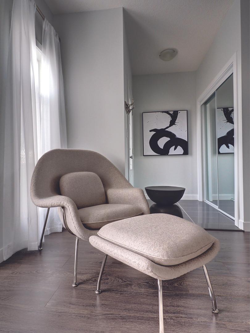 Foyer Chair & Ottoman