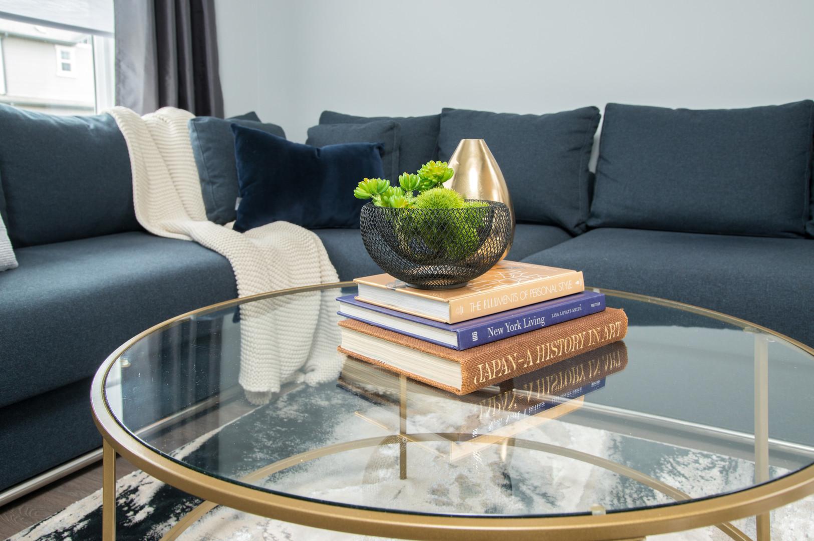 Glass Coffee Table & Decor