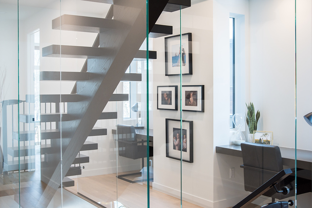 Stairway with Glass Surround